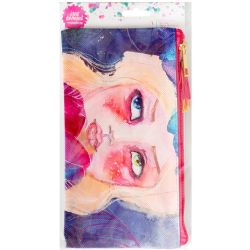 Jane Davenport Mixed Media Zippered Pencil Pouch